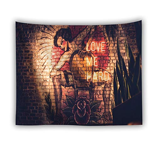 Abstract Tapestry Wall Hanging,Bohemian Indian Hippie Trippy Gothic Modern Printed Fabric, Nude Woman On Chair Vintage Large Size Art Decoration for Living Room Bedroom,230 × 150 cm (Best Indian Nude Girls)