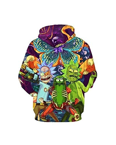 Remikstyt Unisex Pullover Casual 3D Printed Sweatshirts Rick & Morty Hoodies