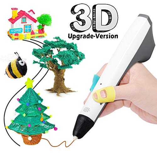 3D Pen, 3D Printing Pen for Kids and Adults, Bonus 2 Free 1.75mm PCL Filament, Safe and Non-Toxic, Perfect for DIY Arts and Crafts, Girls and Boys Christmas Gifts