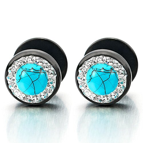 Womens Earrings Illusion Synthetic Turquoise