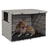 Polyester Dog Crate Cover - Durable Windproof Pet Kennel Cover Provided for Wire Crate Indoor Outdoor Protection - Cover only - 36inch-Gray -  Pethiy