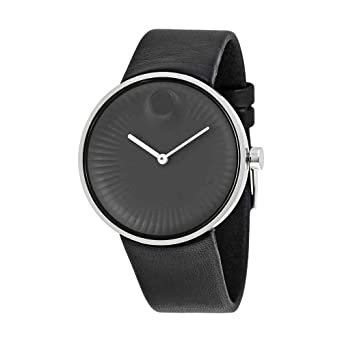 7a3c1718321 Image Unavailable. Image not available for. Color  Movado Edge Black  Aluminum Dial Swiss Quartz Mens Watch 3680002