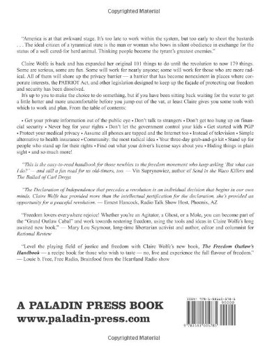 The Freedom Outlaw's Handbook: 179 Things to Do 'Til the Revolution by Brand: Paladin Press