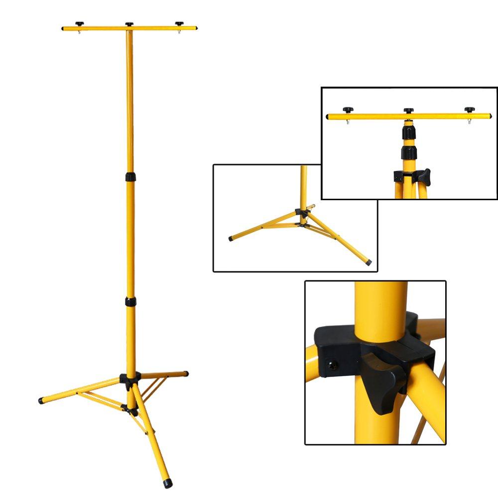 Ständer Gelb Flutlichtstativ 50-150cm Höhenverstellbar Teleskop Stativ Tragbar