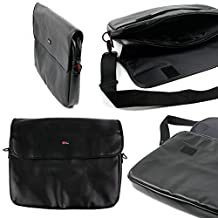 "DURAGADGET PU Leather 15.6"" Laptop Zip-up Carry Bag in Black for ASUS X551C 4GB 500GB, K53SV-SX126V, X55VD-SX046H, Polyvalent K55VJ-SX038H 15,6"" Intel Core i5 Nvidia GeForce GT635M Windows 8 Laptop"