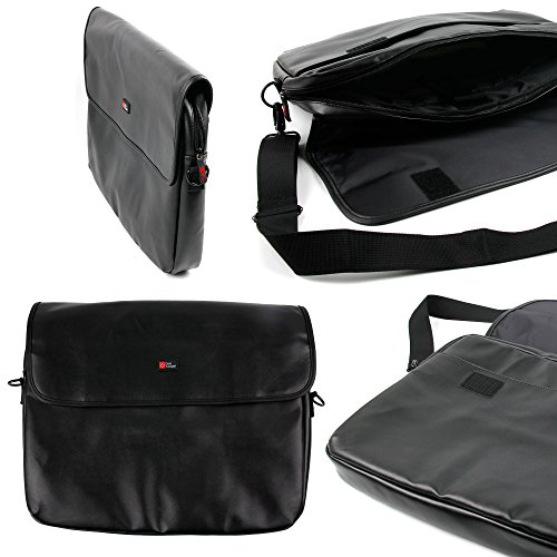 DURAGADGET Black PU Leather Pouch - Suitable for Lenovo Kira Ultrabook| S400 Touch| S400 & S410p