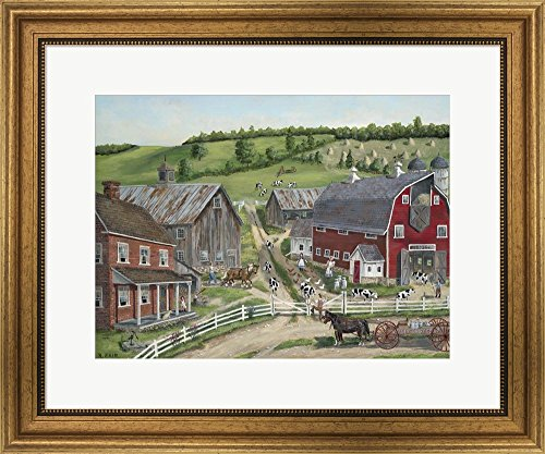 Busy Barnyard by Bob Fair Framed Art Pri - Barnyard Wall Art Shopping Results