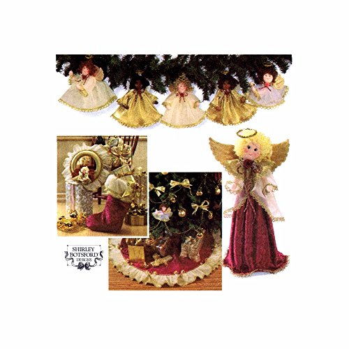 Simplicity Holiday Sewing Pattern 7938 Christmas Decorations - Angels Ornaments and Tree Topper / Centerpiece, Stocking, Wreath, Treeskirt
