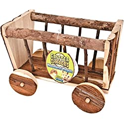 WARE BIRD/SM AN 089597 Critter Timbers Woodland Wagon Natural, 9.75X5X7 in