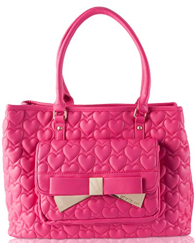 Betsey Johnson Be Mine Forever East West Tote - Fuschia
