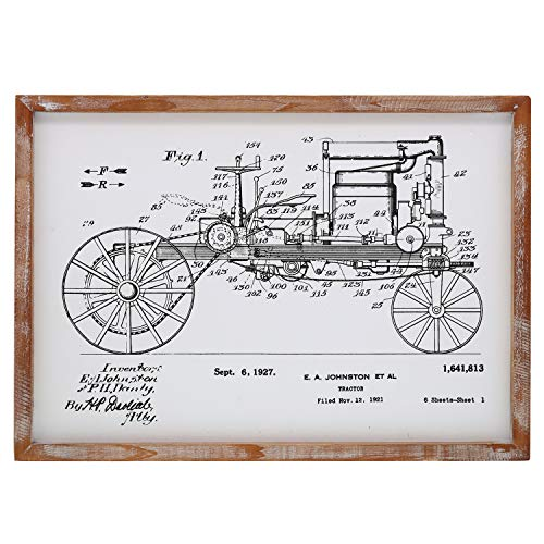 Barnyard Designs Tractor Patent Framed Sign Vintage Farmhouse Country Home Decor 22