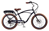 """Pedego Comfort Cruiser 26"""" Classic Midnight with Brown Balloon Package 36V 15Ah"""