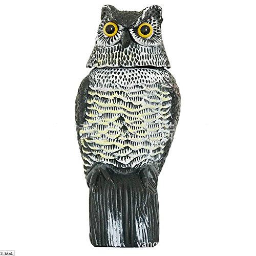 Scare Owl Rotating Head Large Realistic Possum Rodent Bir...