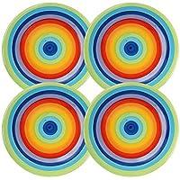 RAINBOW Juego de 4–diseño de Arco Iris–Brillante, Alegre