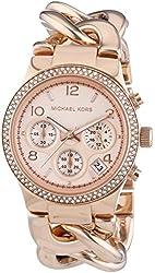 Michael Kors Women's MK3247 Runway Rose Gold-Tone Stainless Steel Watch
