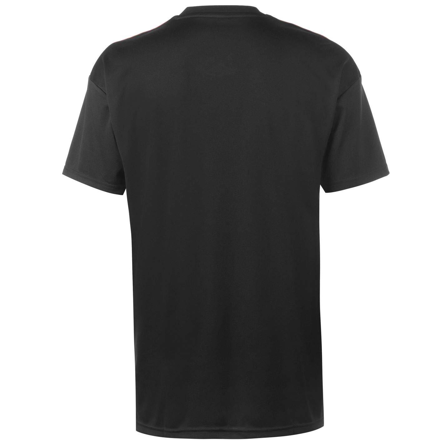 d936d49e88a Amazon.com   adidas 2018-2019 Man Utd Pre-Match Training Football Soccer T- Shirt Jersey (Black)   Sports   Outdoors