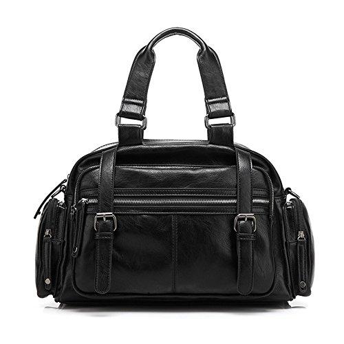 "ZeleToile - Bolso de asas para hombre Negro negro 38CM x 25CM x 10CM (14.96"" x 9.84"" x 3.94"") negro"