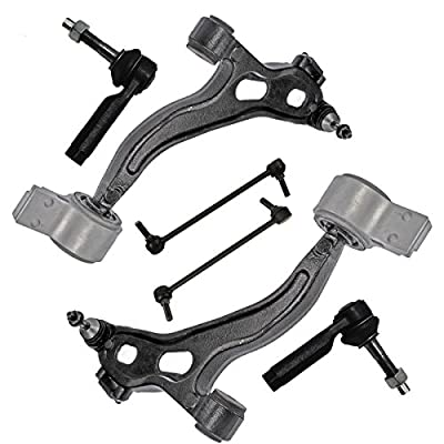 Detroit Axle - New 6-Piece Front Suspension Kit - (2) Front Lower Suspension Control Arms & Ball Joints, (2) Front Stabilizer Sway Bar End Links, (2) Front Outer Tie Rod End Links; Flex Taurus Lincoln: Automotive