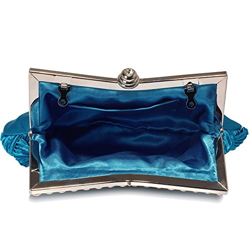 Evening FREE Bag Royal UK DELIVERY Gorgeous Blue Blue Clutch Crystal USBnq7Iw
