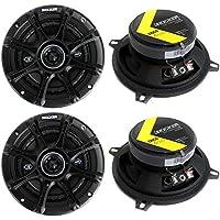 4) Kicker 41DSC54 D-Series 5.25 400 Watt 2-Way 4-Ohm Car Audio Coaxial Speakers