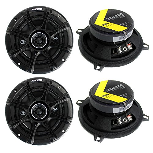 "4) Kicker 41DSC54 D-Series 5.25"" 400 Watt 2-Way 4-Ohm Car Au"