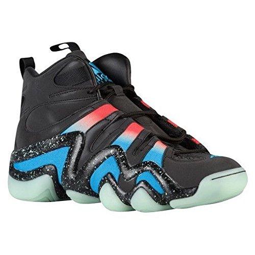 adidas Crazy 8 Mens Fashion-Sneakers Q16935_10.5 - Black/Solar-RED/Solar-Blue (10.5 D(M) US, Black/Solar-RED/Solar-Blue)