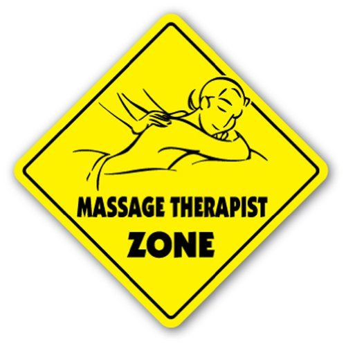 Massage Therapist Zone Sign Novelty Therapy Table Career Rub