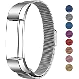 SWEES Metal Bands Compatible Fitbit Alta, Fitbit Alta HR & Fitbit Alta Ace, Milanese Stainless Steel Replacement Accessories Small Large Women Men, Silver, Black, Rose Gold, Colorful, Champagne