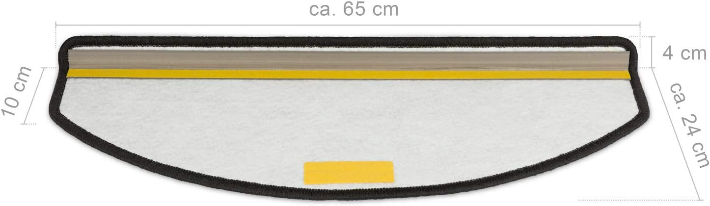 Kettelservice-Metzker Stufenmatten Treppenteppich Tango Halbrund Anthrazit 14 St/ück