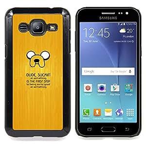 "Qstar Arte & diseño plástico duro Fundas Cover Cubre Hard Case Cover para Samsung Galaxy J2 / J200 (Suckin En Algo"")"