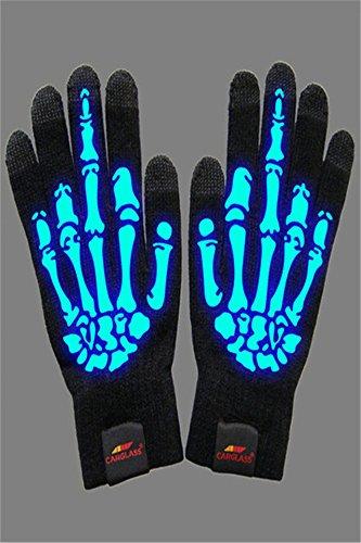Generic光タッチスクリーン手袋暖かい個性スカルユニセックスファッションサイクリング手袋新しい秋と冬ファッション B01N7Q9NAE
