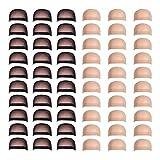 Fani 60 Pieces Nylon Wig Caps Wholesale Elastic Stocking Wig Cap Stretchy Close End Wig Caps 30 Pcs Natural Nude Beige and 30 Pcs Black Color