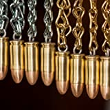 9mm Handmade Bullet Christmas Ornament by Chocolate Weapons (Zinc (Silver Colored) Chain)