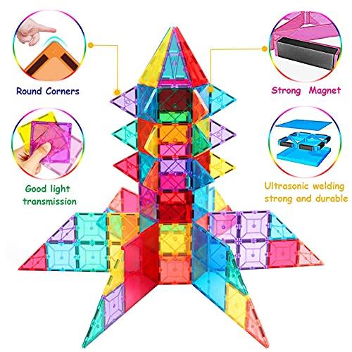 HOMOFY Kids Magnetic Tiles Toys 120Pcs 3D 120 pcs Building Blocks
