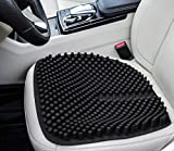 Gel Seat Cushion Pads for Car Office Chair Truck Wheelchair 18 by 18 inch (Black)