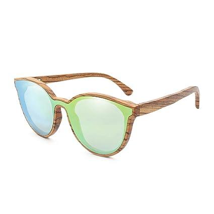 Z.L.F Gafas Personalidad de la Moda Gafas de Sol de bambú ...
