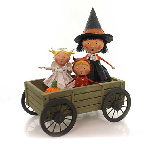 Lori Mitchell HAUNTED HAYRIDE Polyresin Halloween Hay 11049 ()