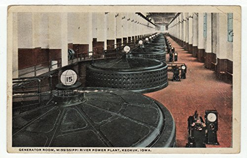 Mississippi River Power Plant  Keokuk  Iowa Vintage Original Postcard  2114   Early 1930S