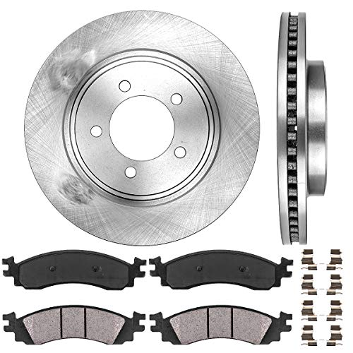 - FRONT 305 mm Premium OE 5 Lug [2] Brake Disc Rotors + [4] Ceramic Brake Pads + Clips