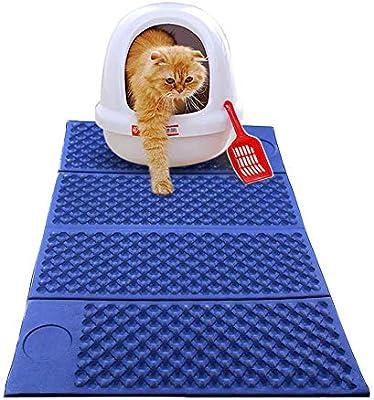 Lanbowo - Alfombrilla de Arena para Gatos (EVA, Plegable, Antihumedad, fácil de Limpiar): Amazon.es: Hogar
