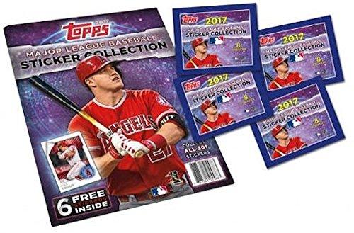 2017 Topps MLB Baseball Sticker Collection Starter Kit (20 packs & 1 (Collection Baseball)