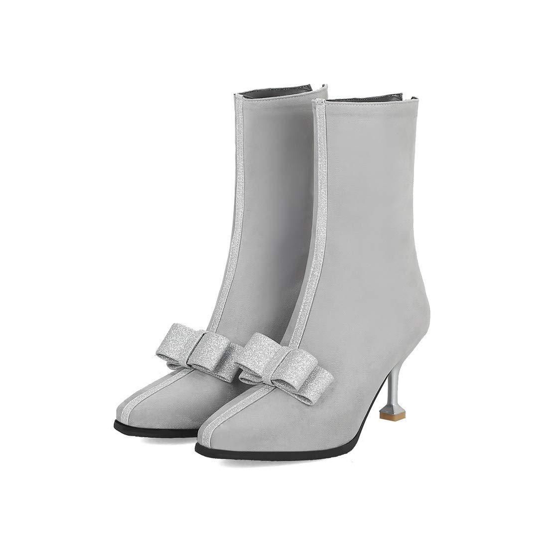 Stivali Stivali Stivali da Donna  Scarpe alla Moda per Donna   Stivali di Grandi Dimensioni con Fiocco a Testa Quadrata 0364ae