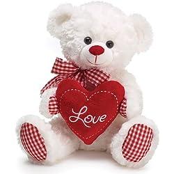 "Gingham Love Bear 10"""
