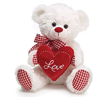Amazon gingham love bear 10 toys games gingham love bear 10quot voltagebd Images