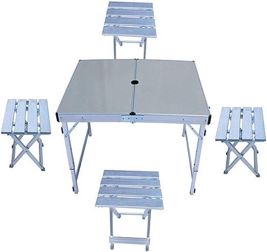 ZYL Mesa Plegable Mesa portátil y sillas Plegables al Aire Libre ...