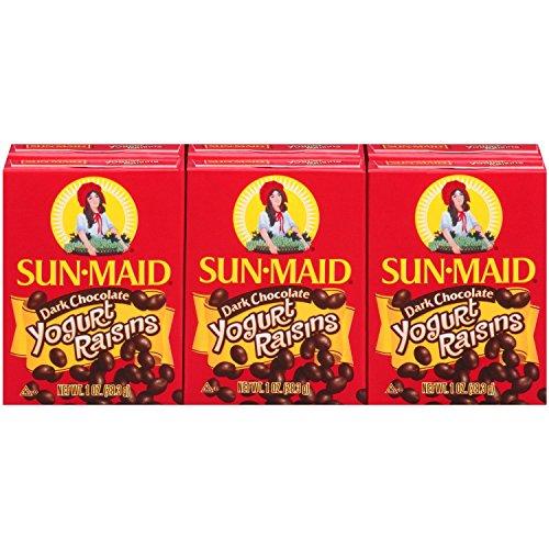Sun-Maid Dark Chocolate Yogurt Raisins, 6 Pack (Pack of 3) by SUN-MAID
