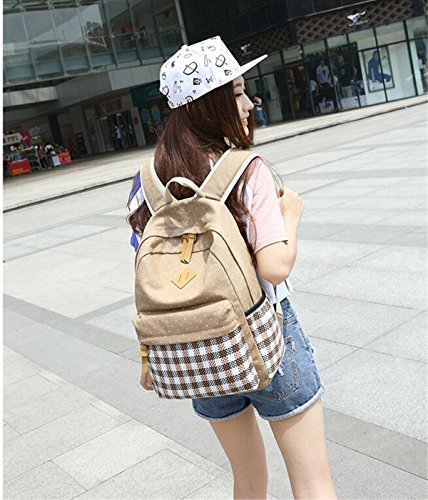panda supermarket - Bolso mochila  para mujer L amarillo