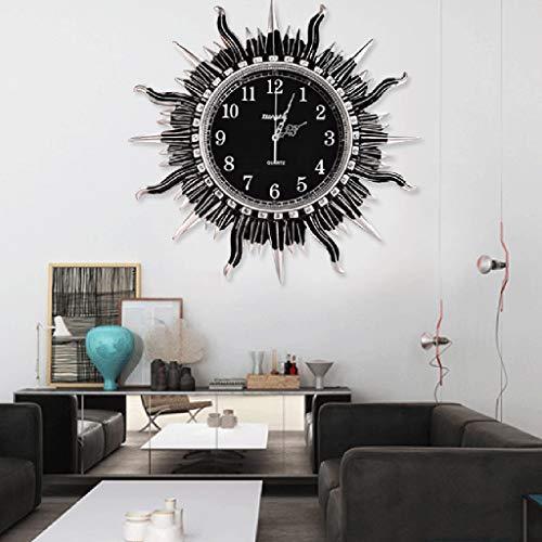 JXL Wall Clockliving,Room Wall Clocksun Art Wall Clockstudy Room Modern Silent Decoration Clockseashell Art Deco Vintage Wall Clock,Gold