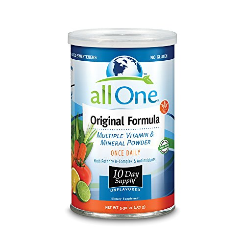 allOne® Multiple Vitamin & Mineral Powder, Original Formula | Once Daily Multivitamin, Mineral & Amino Acid Supplement w/8g Protein | 10 (All One Formula Original Powder)