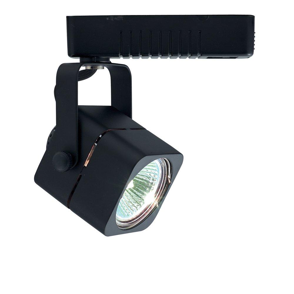 Jesco Lighting HLV10250BK Mini Deco 102 Series Low Voltage Track Light Fixture, 50 Watt, Black Finish